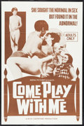 "Movie Posters:Sexploitation, Come Play with Me (Nova International Productions, 1968). One Sheet(27"" X 41""). Sexploitation.. ..."