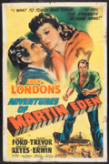"Movie Posters:Adventure, The Adventures of Martin Eden (Columbia, 1942). One Sheet (27"" X41""). Adventure.. ..."