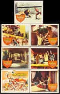 """Movie Posters:Adventure, The Warrior and the Slave Girl and Other Lot (Columbia, 1959).Title Card and Lobby cards (6) and Lobby Card Set of 8 (11"""" X...(Total: 15 Items)"""