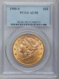 Liberty Double Eagles: , 1900-S $20 AU58 PCGS. PCGS Population (458/4571). NGC Census:(393/6452). Mintage: 2,459,500. Numismedia Wsl. Price for pro...
