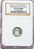Proof Seated Dimes, 1873 10C No Arrows, Closed 3 PR65 Cameo NGC....