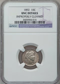 Barber Dimes, 1892 10C -- Improperly Cleaned -- NGC Details. UNC. NGC Census:(5/1024). PCGS Population (20/1072). Mintage: 12,121,245. N...