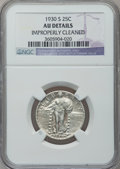 Standing Liberty Quarters, 1930-S 25C -- Improperly Cleaned -- NGC Details. AU. NGC Census:(3/498). PCGS Population (16/1032). Mintage: 1,556,000. Nu...