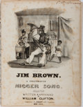 Books:Music & Sheet Music, [Sheet Music]. Group of Four 19th Century Songs, Three Written inDialect. All disbound with foxing and some scattered stain...
