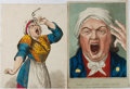 Books:Prints & Leaves, Group of Two Hand-Colored 19th Century Engravings. Approx. 11 x 8inches. Very good....