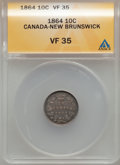 Canada:New Brunswick, Canada: New Brunswick. Victoria 10 Cents 1864,...