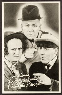 "Three Stooges Promotional Photo (Columbia, 1935). Promotional Giveaway Heralds (10) (5"" X 7.75""). Comedy..."