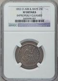 Seated Quarters: , 1853-O 25C Arrows and Rays -- Improperly Cleaned -- NGC Details.XF. NGC Census: (7/56). PCGS Population (16/62). Mintage: ...