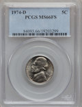Jefferson Nickels: , 1974-D 5C MS66 Full Steps PCGS. PCGS Population (37/4). NGC Census: (25/0). Numismedia Wsl. Price for problem free NGC/PCG...
