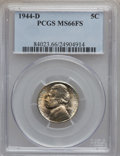 Jefferson Nickels: , 1944-D 5C MS66 Full Steps PCGS. PCGS Population (1539/237). NGCCensus: (277/131). Numismedia Wsl. Price for problem free ...