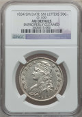 Bust Half Dollars: , 1834 50C Small Date, Small Letters -- Improperly Cleaned -- NGCDetails. AU. O-109. PCGS Population (11...