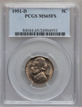 Jefferson Nickels: , 1951-D 5C MS65 Full Steps PCGS. PCGS Population (116/40). NGCCensus: (13/12). Numismedia Wsl. Price for problem free NGC/...