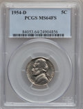 Jefferson Nickels: , 1954-D 5C MS64 Full Steps PCGS. PCGS Population (58/23). NumismediaWsl. Price for problem free NGC/PCG...