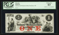 Obsoletes By State:New Hampshire, Rochester, NH- The Farmers and Mechanics Bank $1 Nov. 1, 18__. ...