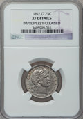 Barber Quarters: , 1892-O 25C -- Improperly Cleaned -- NGC Details. XF. NGC Census:(0/386). PCGS Population (6/471). Mintage: 2,640,000. Numi...