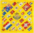 "Luxury Accessories:Accessories, Hermes Yellow, Red, and White ""Pavois"" by Phillippe Ledoux SilkScarf. ..."