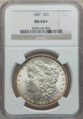 1887 $1 MS65+ NGC. NGC Census: (28025/4272 and 281/69+). PCGS Population: (18317/2112 and 272/173+). MS65. Mintage 20,29...