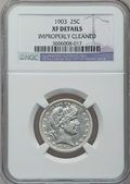 Barber Quarters: , 1903 25C -- Improperly Cleaned -- NGC Details. XF. NGC Census:(3/86). PCGS Population (5/136). Mintage: 9,670,064. Numisme...