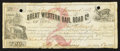 Obsoletes By State:Iowa, Camanche, IA - The Great Western Rail Road Co. $2 Jan. 1, 1858. ...