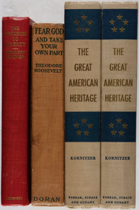 [Presidential Biographies]. Group of Three Signed or Inscribed Titles In Four Volumes. Various, 1916-1955. Chal