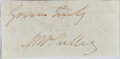 Autographs:Authors, Mary Shelley, British Author. Clipped Signature. Author of Frankenstein. Very good....