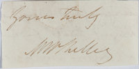 Mary Shelley, British Author. Clipped Signature. Author of Frankenstein. Very good