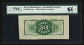 Fractional Currency:Third Issue, Fr. 1339SP 50¢ Third Issue Spinner Back Type II PMG Gem Uncirculated 66 EPQ.. ...