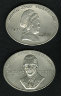 Assay Medals: , 1976 Assay Commission Medal. MS65 Uncertified. Julian AC-120, R.7.Pewter, 75.6 x 59.4 mm. oval, 2,355.0 grains. and a 197...