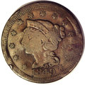 Counterstamps: , 1849 Counterstamped U.S. Large Cent. Counterstamped C.B. Miller's Restaurant, 100 over 10. This piece is listed on page 120 ...