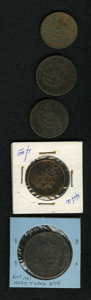 Counterstamps: , Canada Devins & Bolton Counterstamp Group Lot. Consists of five different tokens used by Devins & Bolton to advertise their ... (Total: 5 tokens)