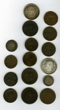 Counterstamps: , World Counterstamped Group Lot. Consists of 16 world coins, all with various types of counterstamps. Names on the coins incl... (Total: 16 tokens)