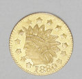 California Fractional Gold: , 1880 California Gold Charm. This is a round half-dollar size piecewith an Indian Head and 13 five-pointed stars, listed as ...