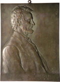 Lincoln: , 1907 Victor David Brenner's Abraham Lincoln Plaque. 170 mm x 230mm. This is the portrait of Lincoln that Brenner used as a ...