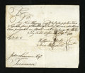 Colonial Notes:Connecticut, 1783 Tax Statement. This approximate 6.5 by 5.5 inch tax statementfor 1783 is signed by John Lawrence, Connecticut treasure...
