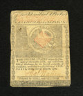 Colonial Notes:Massachusetts, Massachusetts May 5, 1780 $2 Very Fine, CC. The tear at center is acancel. An approximate quarter inch edge split is notice...