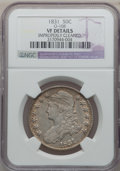 Bust Half Dollars: , 1831 50C -- Improperly Cleaned -- NGC Details. VF. O-108. NGCCensus: (12/1513). PCGS Population (6/1696). Mintage: 5,873,...