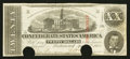 Confederate Notes:1863 Issues, T58 $20 1863 PF-30 Cr. UNL.. ...
