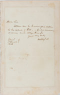 Autographs:Authors, Sir Walter Scott, Scottish Author. Autograph Letter Signed. Very good....