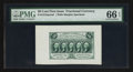 Fractional Currency:First Issue, Fr. 1313SP 50¢ First Issue Wide Margin Face PMG Gem Uncirculated 66 EPQ.. ...