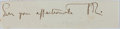 Autographs:Authors, John Ruskin, British Author. Clipped Signature with Initials. Verygood....