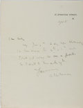 Autographs:Authors, A. E. W. Mason, British Author. Autograph Letter Signed. Near fine....