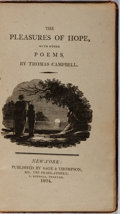 Books:Literature Pre-1900, Thomas Campbell. The Pleasures of Hope and Other Poems. Sage& Thompson, 1804. Contemporary calf with rubbing. F...