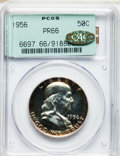 Proof Franklin Half Dollars, 1956 50C Type Two PR66 PCGS. Gold CAC. PCGS Population (1950/2311).NGC Census: (1198/6455). Mintage: 669,384. Numismedia W...