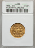 German States:Hamburg, German States: Hamburg. Free City gold 20 Mark 1895-J,...