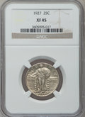 Standing Liberty Quarters: , 1927 25C XF45 NGC. NGC Census: (9/727). PCGS Population (25/944).Mintage: 11,912,000. Numismedia Wsl. Price for problem fr...
