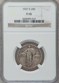 Standing Liberty Quarters: , 1927-S 25C Fine 15 NGC. NGC Census: (79/534). PCGS Population(142/954). Mintage: 396,000. Numismedia Wsl. Price for proble...