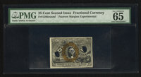 25¢ Second Issue Experimental PMG Gem Uncirculated 65 EPQ