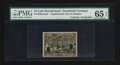 Fractional Currency:Second Issue, 25¢ Second Issue Experimental Courtesy Autographs PMG Gem Uncirculated 65 EPQ.. ...