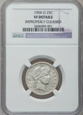 Barber Quarters: , 1904-O 25C -- Improperly Cleaned -- NGC Details. VF. NGC Census:(2/96). PCGS Population (9/136). Mintage: 2,456,000. Numis...