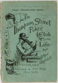 Books:Americana & American History, E. W. Kemble [illustrator]. The Thompson Street Poker Club.[n. p.], 1884. Wrappers with toning and rubbing. Spine e...
